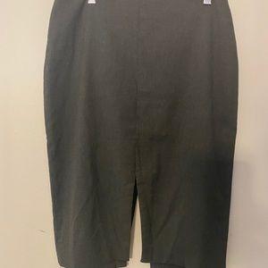 Banana Republic Dark Grey Skirt